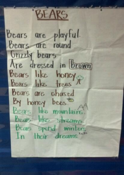 bear poem: Bears Bears, Bears Caterpillars Monkeys, Bear Poems, Bears Week, Bears Tj, Fall Poems, Finger Play, Kindergarten Poems, Da Bears