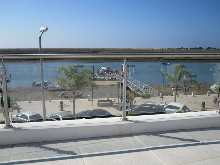 Glass front allows allround views . Apartments directly opposite the ferry for Terra Estreita beach. One of the finest blue flag beaches in the Algarve, Portugal and probably the World!!