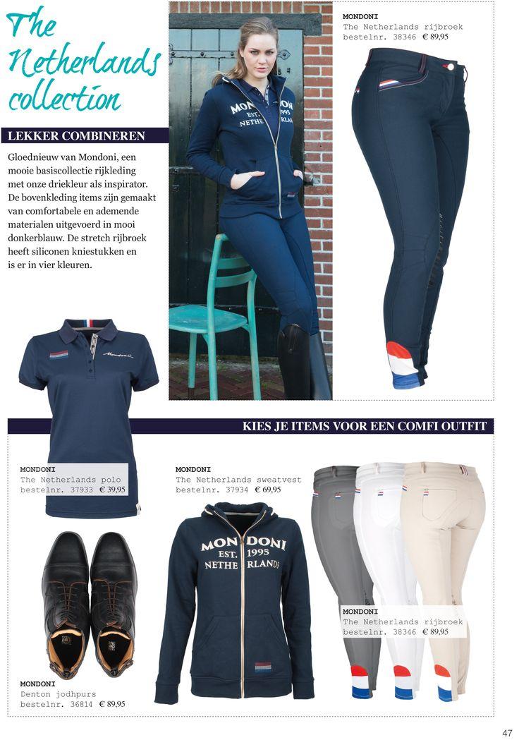 The Netherlands collection. Lekker combineren. Gloednieuw van #mondoni, een mooi basiscollectie #rijkleding met onze #driekleur als #inspirator. De #bovenkleding items zijn gemaakt van comfortabele en ademende materialen uitgevoerd in mooi #donkerblauw. De stretch #rijbroek heeft #siliconen #kniestukken en is er in vier #kleuren. Kom shoppen op www.divoza.com #horseworld #paardrijden #ruiter #mode #Divoza