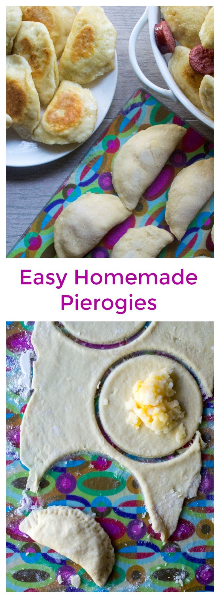 Homemade Pierogies   Homemade Pierogies are easy to make dumplings with a tasty potato and cheese filling and then boiled and sauteed in butter for the most delicious dish! #pierogies #homemadepierogies #polishfood via @thepackmomma