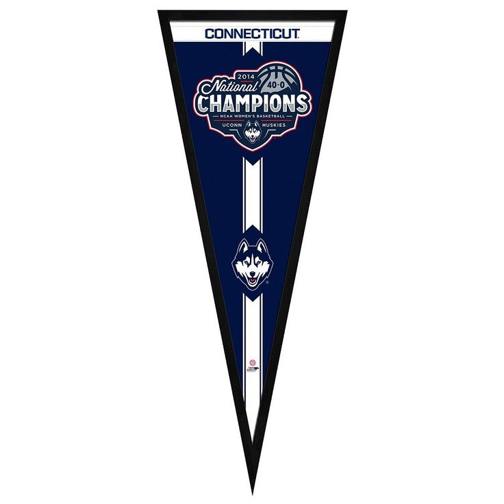 "UConn Huskies 2014 Ncaa Women's Basketball Champions 13"" x 33"" Pennant Frame, Multicolor"
