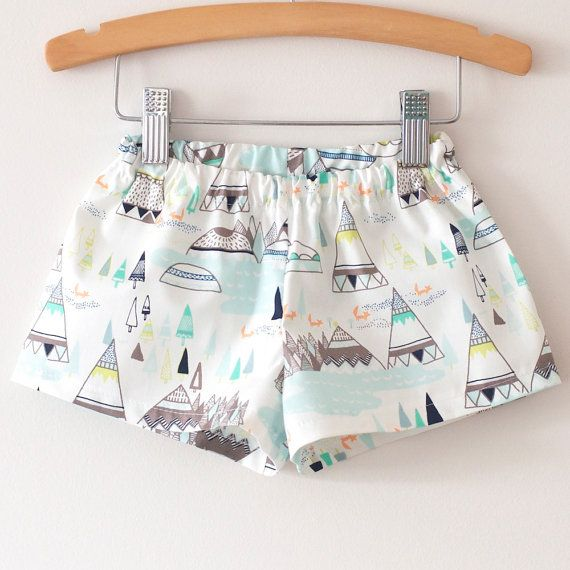 Basic Shorts pdf sewing pattern.  Unisex 3 by HeyThereThreads