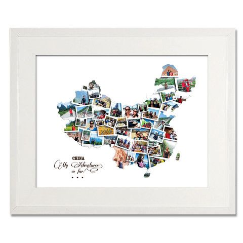China Destination Collage - Treasure on the Wall