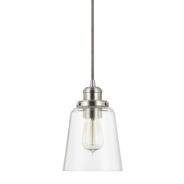 Glass Pendant in Brushed Nickel by Capital Lighting 3718BN-135
