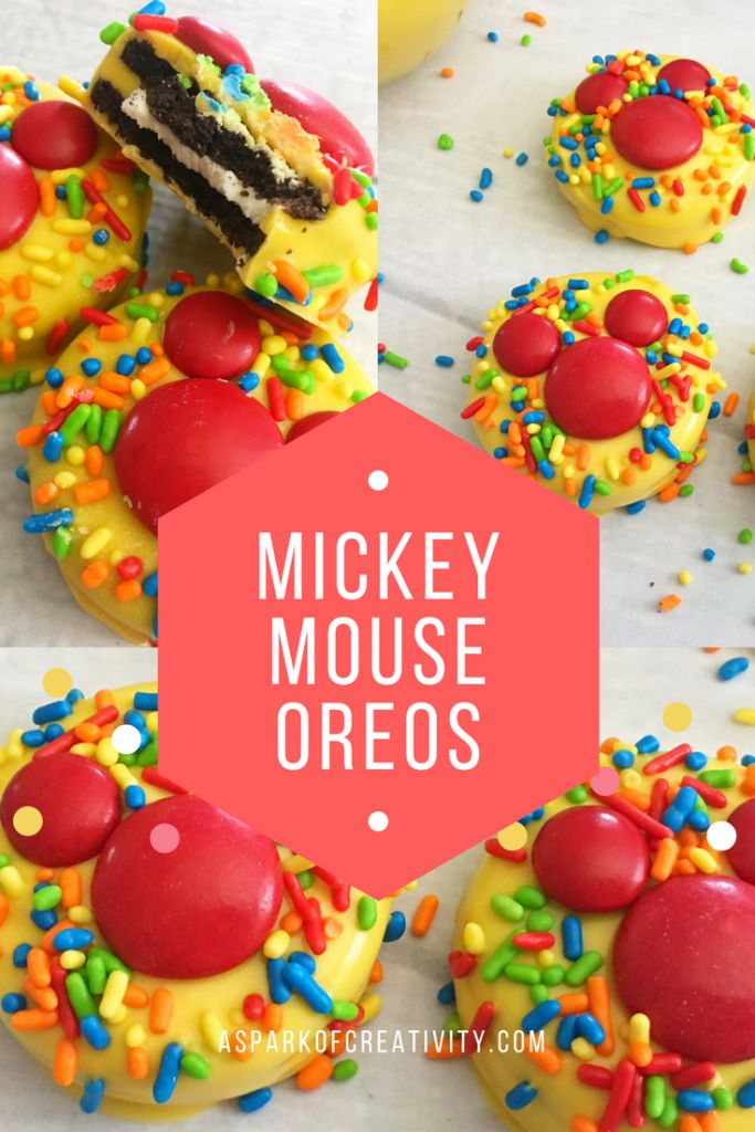 The most delicious and easy to make Mickey Mouse Oreos! These are adult and kid approved and will be the perfect addition to an after dinner dessert or a show stopper at your next Mickey Mouse birthday party! Whose ready to make these?