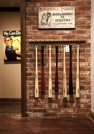 Wooden Bat And Baseball American Flag I Absolutely Love This One Something Know My Husband Would Enjoy