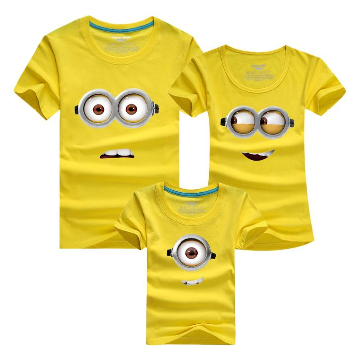 Despicable Me T-shirt Family Matching Clothes Minion T Shirt Children T Shirts Father Mother Son Matching Family Clothes DC72