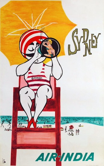 Destination Sydney - Air India Posters #Retro