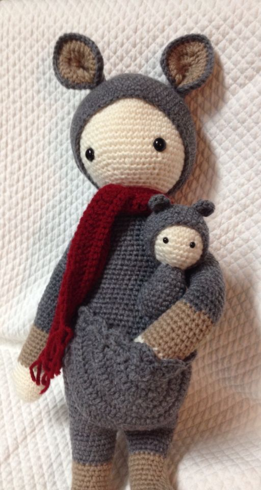 Katy the Kangaroo from Crocheted Little ones pattern by Lalylala