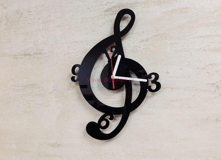 Zegar na ścienny Klucz Wiolinowy-kns_339-zegary ścienne