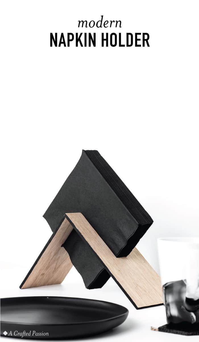 DIY moderne Serviettenhalter