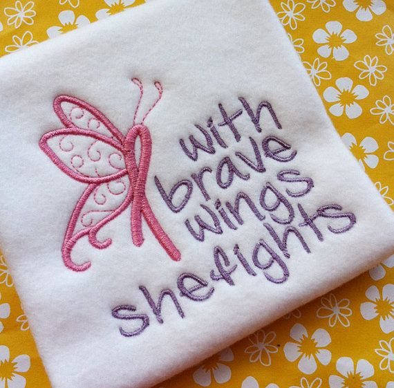Breast Cancer Awareness Ribbon Butterfly Wings Machine Embroidery Design Pattern INSTANT DOWNLOAD Digital File October Support Love Faith