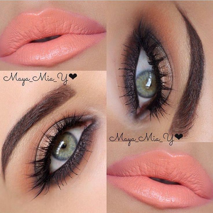 Bronze eyes and coral lips - Maya Mia
