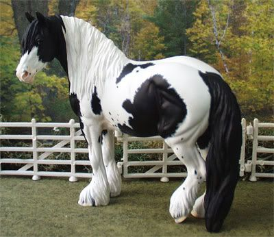 Gypsy Vanner Breyer Horse looks like one of  my characters  from an animation I have been working on