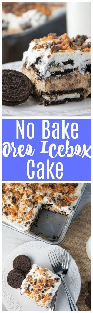 Oreo Icebox Cake- easy no bake dessert with peanut…Edit description
