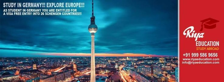 Study in Germany!!! Explore Europe !!! To know more on abroad study programs get in touch with Riya Education.Visit our website.