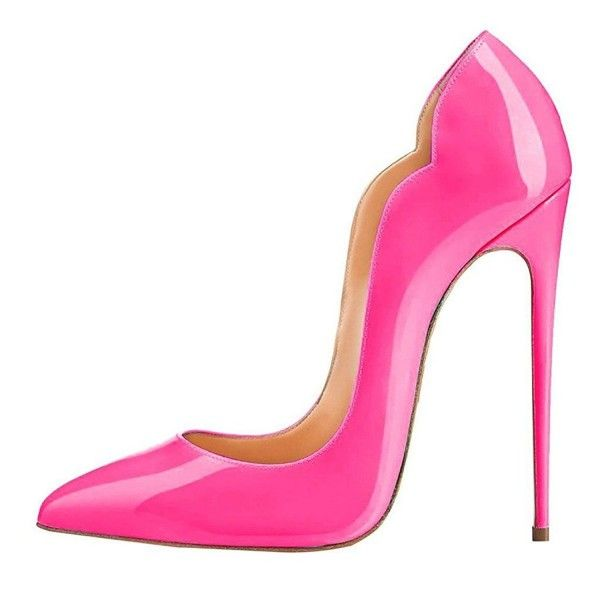 e1897f846153 Hot Pink Stiletto Heels Patent Leather Pumps by FSJ image 2
