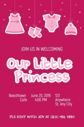 Design amazing party invitations for your new baby born, just in seconds. It's easy, fast and free. PixTeller is an online photo editor designed to enhance your creativity and your imagination. You can choose one of our hundreds of templates or start your own design from scratch. Check it out and you will love it!