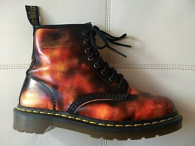 Doc Dr. Martens Fire Red Flame Boots
