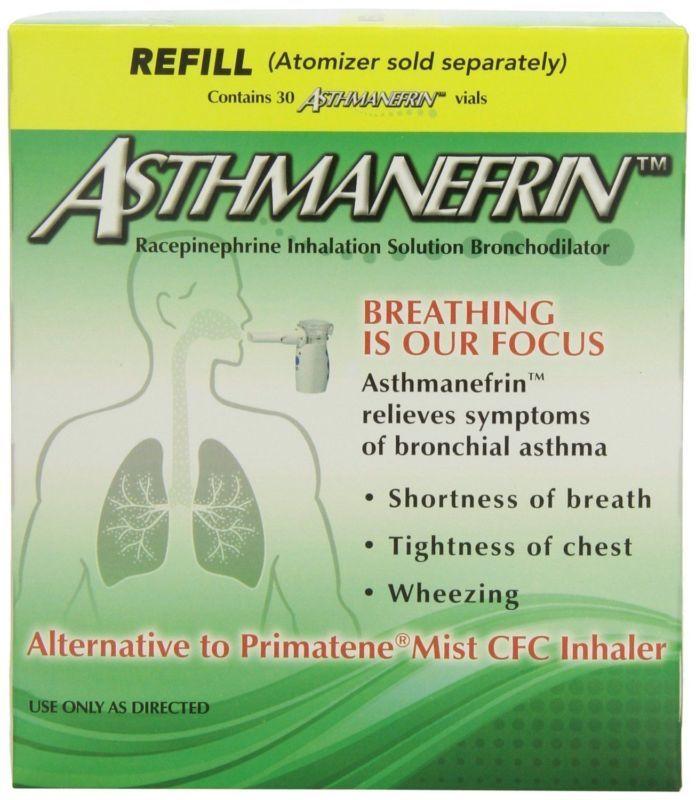 NEW Asthmanefrin Inhalation Solution Bronchodilator Asthma Refill Vials, 30 Ct #ad