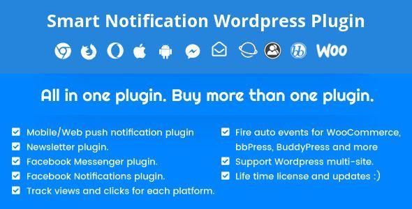 Download Free Smart Notification Wordpress Plugin Web Mobile Push Fb Messenger Fb Notifications Newsletter Download Fb Free Messenger Mobile News