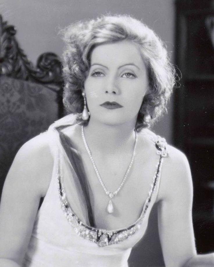Portrait of Greta Garbo as Anna Karenina in Anna Karenina (original title with silent film 1926)