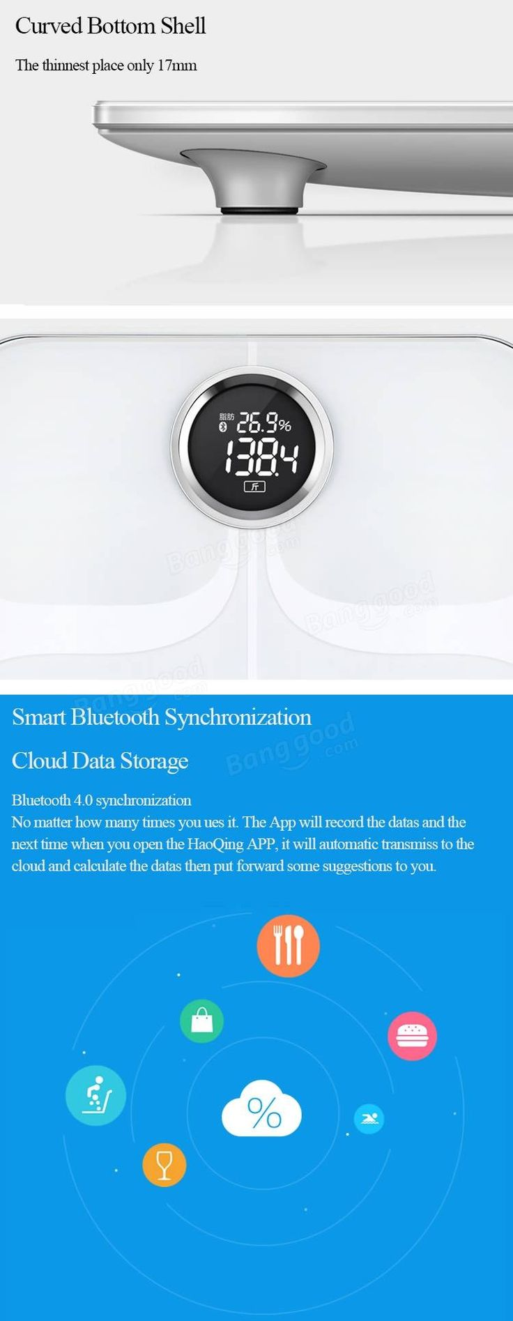 YunMai smart weighing scale