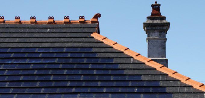 Monier SOLARtile. Dulwich House residence. Retrofit job using Monier Cambridge tiles
