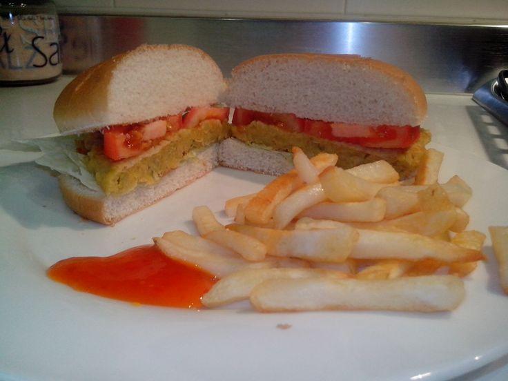 Hamburger di fagioli cannellini