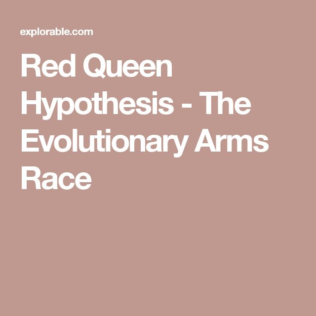 Red Queen Hypothesis - The Evolutionary Arms Race