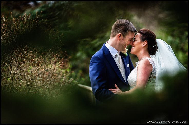 Portrait of Iain and Kristy at Rivervale Barn, a fab Hampshire wedding venue -