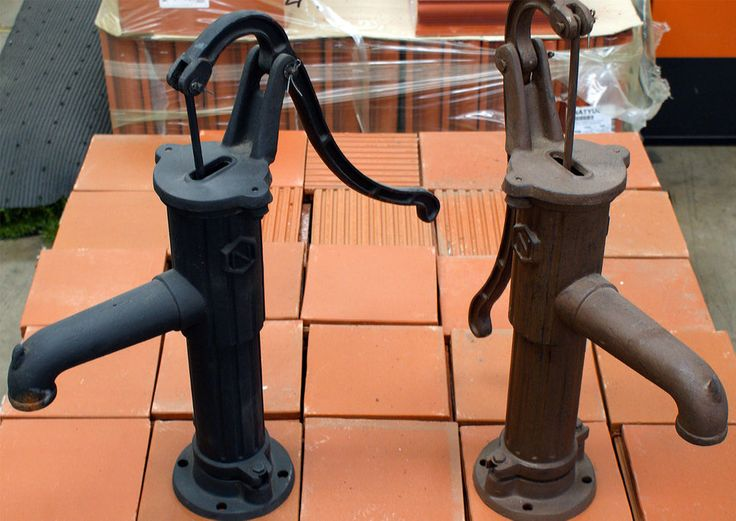 Rustic Old style water pump feature. IT ACTUALLY WORKS TOO! Brown only. NEW in Home & Garden, Gardening, Outdoor Power Equipment | eBay