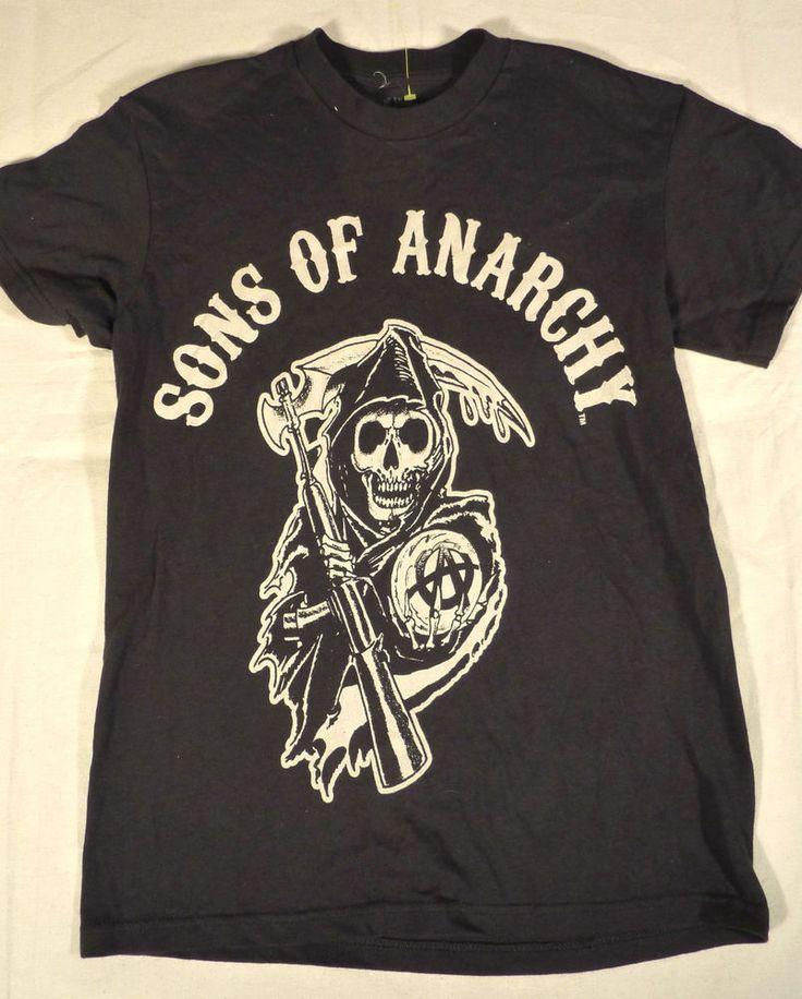 Sons of Anarchy Motorcycle Club Reaper Circle SOA Samcro Shirt Men's Small #sonsofanarchy #skulls