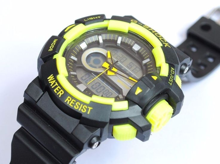 TAGS CASIO G SHOCK BLACK ANALOG DIGITAL ALARM LIGHT WRIST WATCH