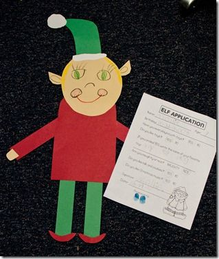Christmas activity: read How Santa Got His Job, then students complete an Elf Application