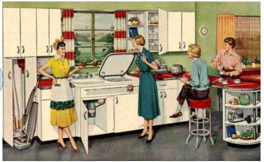 1950s Interior Design Kitchen Vintage Advertizing
