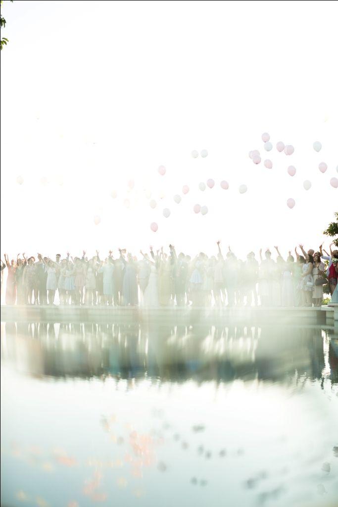 Balloon Release on Bridge