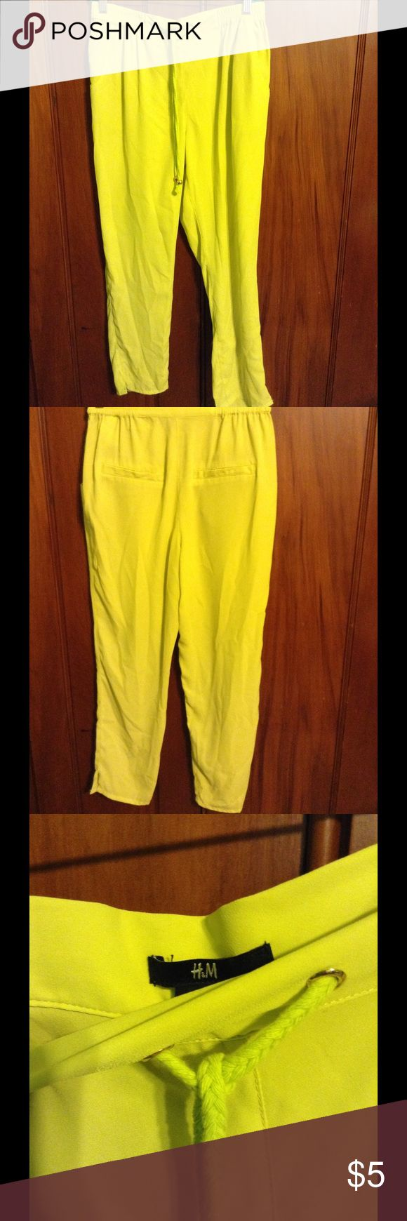 Bright Neon Color Pants by H&M Cute neon pant by H&M! Small ink stain on pant leg H&M Pants Trousers