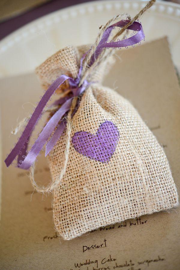 burlap bags. cute for a wedding favor.