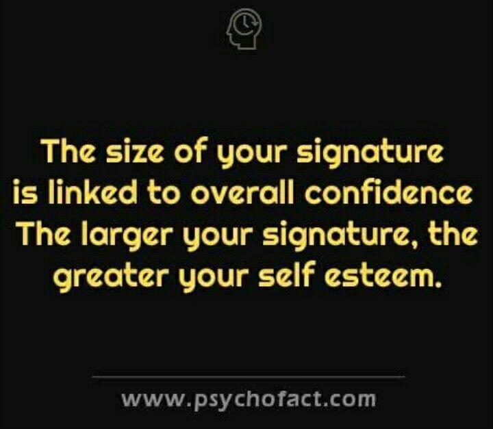 Wow I write big & working on self esteem!! So interesting