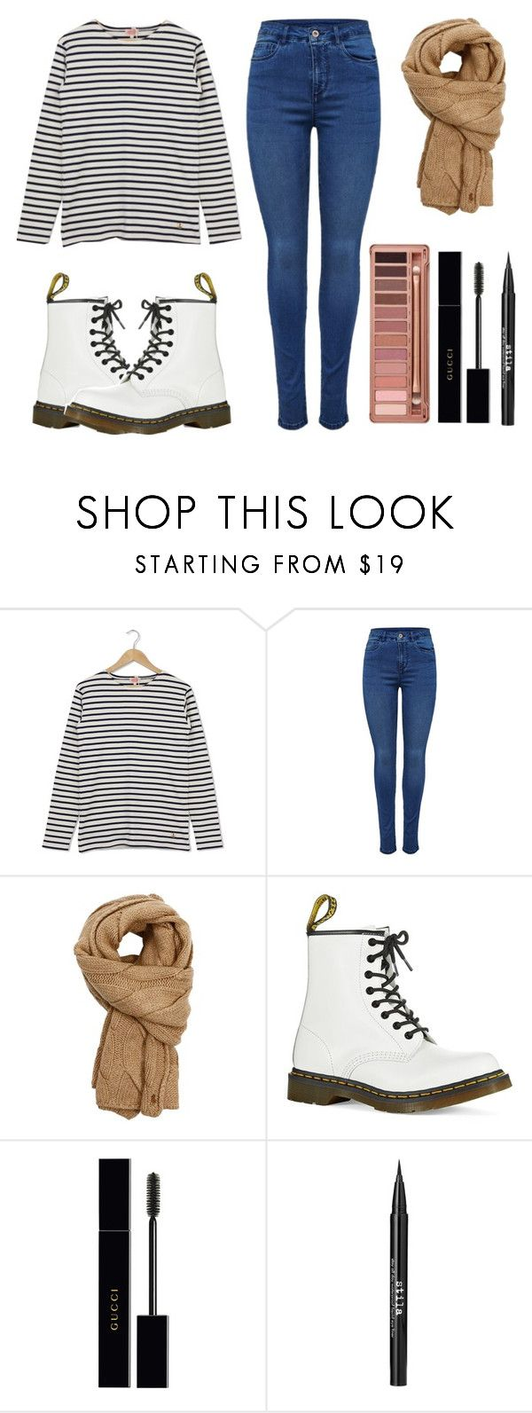 """Simple Fall Fashion"" by moriah-fashion ❤ liked on Polyvore featuring Armor-Lux, Polo Ralph Lauren, Dr. Martens, Urban Decay, Gucci and Stila"