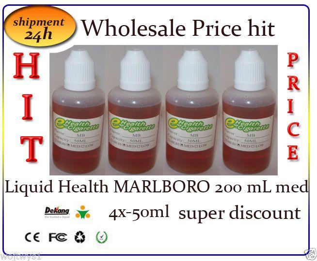 HIT!   E-Shisha Liquid Health MARLBORO 200mL med 4x-50ml super discountr