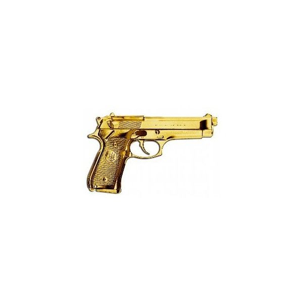 Golden handshake and golden gun ❤ liked on Polyvore featuring weapons, fillers, accessories, guns and backgrounds