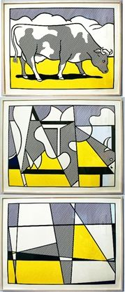 Cow Triptych: Cow Going Abstract by Roy Lichtenstein