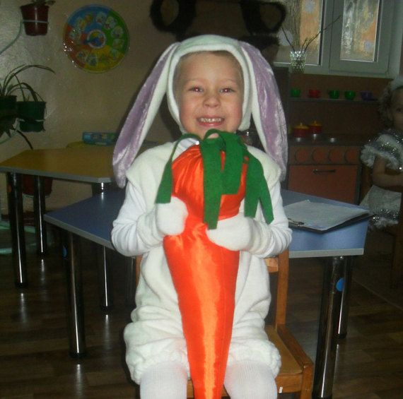 White Bunny Kids Costume/ READY TO SHIP/ by KatyCraftHMStuff