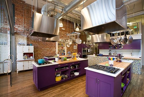 Classy Use Of Purple In The Industrial Kitchen Design: Momoko Morton photo - 5