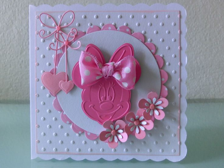 sweet minni mouse card for a girl