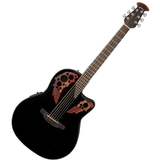 Guitarra electroacústica CE44-5 Celebrity Elite, color negro (BLK) - Guitarras
