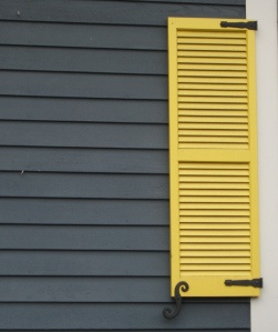 Dark gray siding, bright yellow accent. I would like the front door this color.