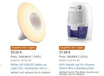 """Amazon: Philips HF3506/05 Wake-Up-Light für 55 Euro frei Haus https://www.discountfan.de/artikel/technik_und_haushalt/amazon-philips-hf350605-wake-up-light-fuer-55-euro-frei-haus.php Mit dem Philips HF3506/05 ist heute bei Amazon als """"Angebot des Tages"""" ein Wake-up Light mit zwei natürlichen Wecktönen für 55 Euro frei Haus zu haben. Die Rezensionen fallen mit vier von fünf Sternen recht gut aus. Amazon: Philips HF3506/05 Wake-Up-Light für 55 Euro frei Haus"""